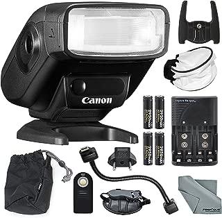 Canon Speedlite 270EX II Flash for Canon SLR Cameras with Remote, Bounce Diffuser, 12