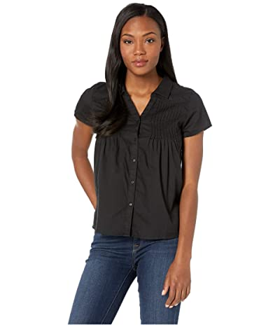 Prana Katya Short Sleeve Top (Black) Women
