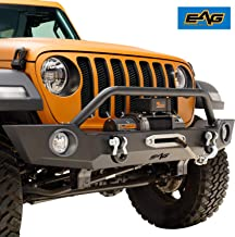 EAG Heavy Duty Front Bumper Offroad with Fog Light Housing Fit for 18-19 Jeep Wrangler JL