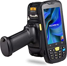 Android Scanner Handheld Pistol Grip, MUNBYN Mobile Computer - 1D Zebra Laser Reader, Numeric Keypad, Scanner Trigger, WiFi, 3G, 4G Wireless Touch Screen Termianl for Warehouse Inventory Management