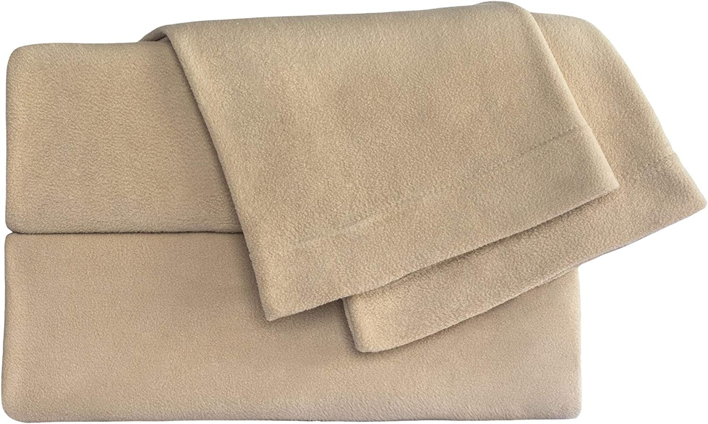 Purchase Cozy Fleece Microfleece Fixed price for sale Sheet King Tan Set
