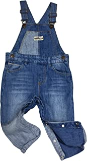 Kidscool Space Baby Boy Easy Diaper Changing Patchwork Fashion Jeans Overalls