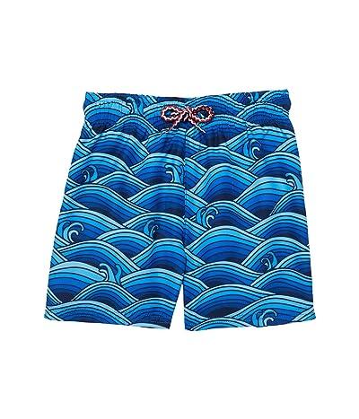 Appaman Kids Blue Waves Mid Length Swim Trunks (Infant/Toddler/Little Kids/Big Kids)