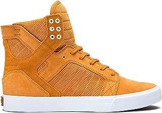 Supra Footwear - Skytop High Top Skate Shoes, Desert-White, 12.5 M US Women/11 M US Men