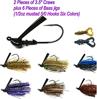 Wtrees #2730 Best Tube Jigs Kit Crappie Jigs Set for Bass Fishing Lures and Baits