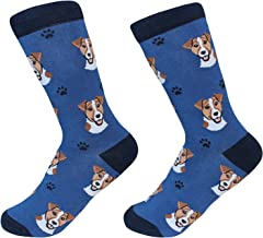 Jack Russell Terrier Dog Breed Socks Unisex Sock Daddy by E&S Pets