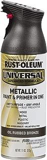 Rust-Oleum Universal All Surface 249131-6 PK Spray Paint, 11 oz, Metallic, 6 Pack, Oil Rubbed Bronze