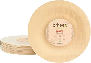 Best bamboo disposable dinner plates Reviews