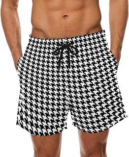 DEYYA Mens White Horse Eyes Summer Beach Shorts Pants Swim Trunks Board Short for Men