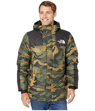 The North Face Deptford Down Jacket (Burnt Olive Green Waxed Camo Print) Men