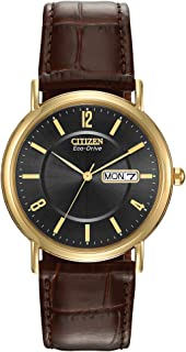 ساعة سيتيزن للرجال ايكو-درايف ستانلس ستيل مع تاريخ ، BM8242-08E