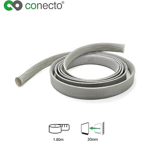 Conecto Cc50324 Universeller Polyester Kabelschlauch Elektronik