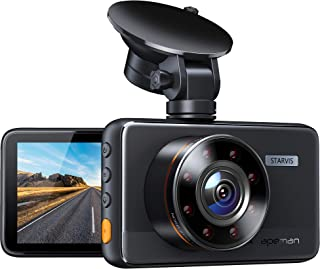 APEMAN Dash Cam C660, Superior Night Vision with 8 IR Lights, 1080P Car Driving Recorder, 3'' IPS Screen, 170° Wide Angle,...