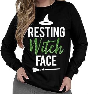 NoBull Woman Apparel Resting Witch Face Halloween Sweatshirt Black