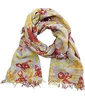 70% Cashmere 30% Silk Floral Print Scarf