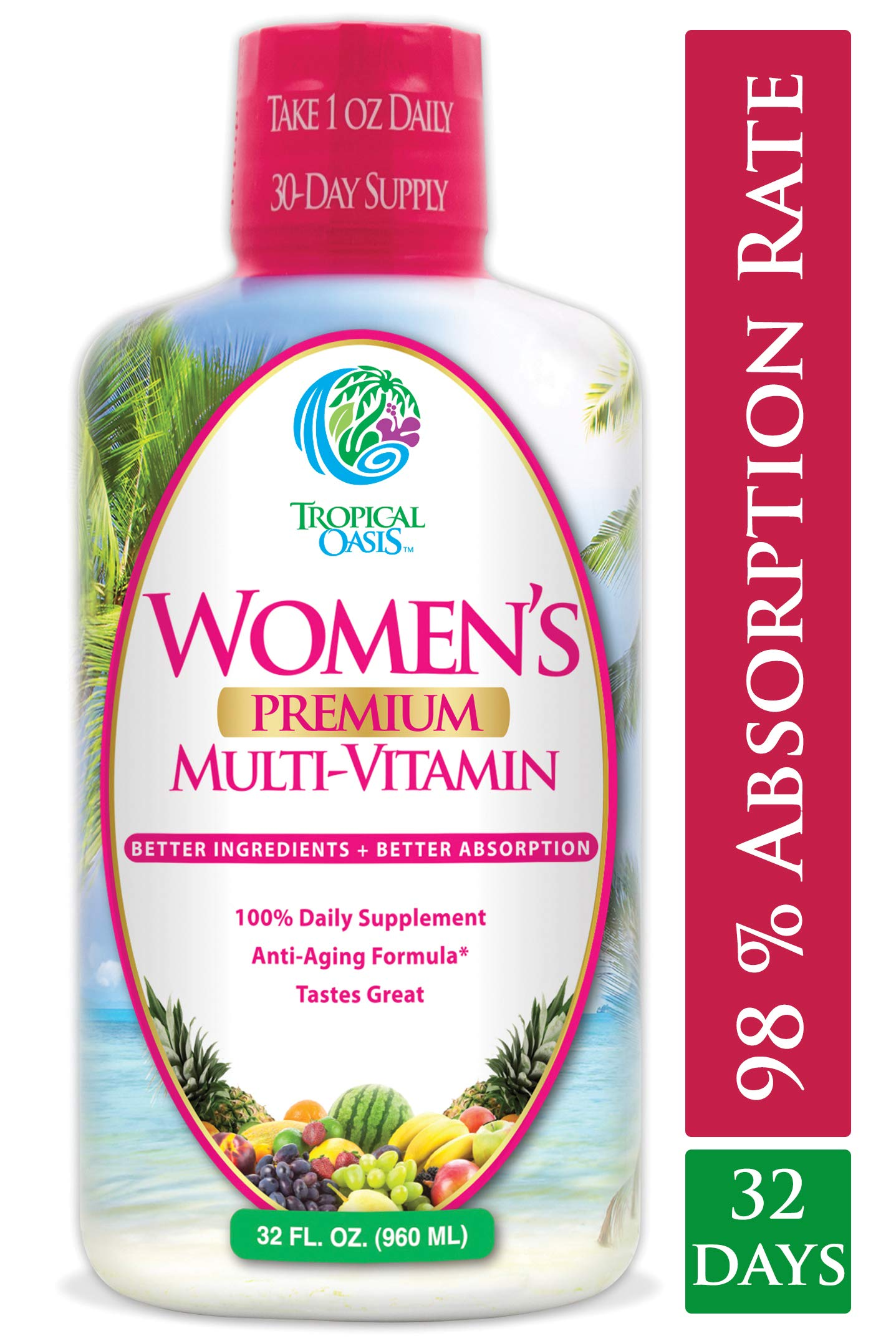 Womens Premium Liquid Multivitamin Superfood