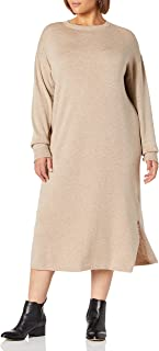 The Drop Women's Suki Rib Midi V-Back Sweater Dress