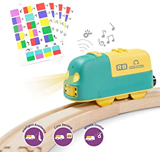 Robobloq Battery-Operated Smart Toy Train, 22 Functions, Coding Toy for Kids, Compatible to Thomas & Friends, BRIO, IKEA, ...