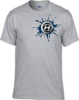 050 Gris Auto Logo Car T-Shirt vor Fun mmshop18 Hyundai