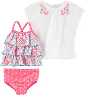 bc1093166 Carter's Baby Girls' 3-Piece Printed Swim Set & Cover up, ...