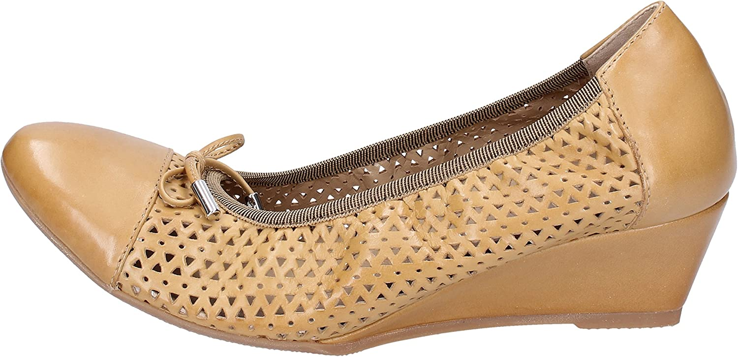 CALPIERRE Flats-shoes Womens Leather Brown