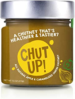 CHUT UP Apple and Caramelized Chutney Case Pack | All Natural Chutney Sauce - 7.5 Ounces