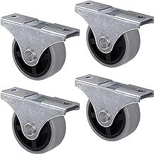 Gedotec Design bokwielen met schroefplaat   Transportwielen voor alle vloeren   Kunststof grijs   CASTOR   Rollen-Ø 25 mm...