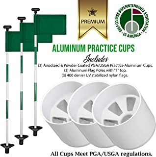 Putting Green Golf Combo Set - (3 PGA/USGA Practice Cups 4