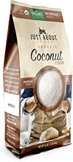 Just About Foods Organic Coconut Flour 1lb (454g) Gluten free, Non-GMO, Kosher certified