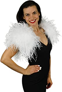 Best white ostrich feather shrug Reviews