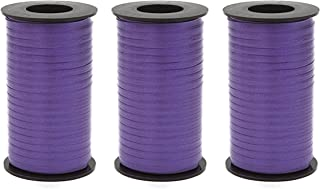Set of 3 Berwick 1 09 Splendorette Crimped Curling Ribbon, 3/16-Inch Wide by 500-Yard Spool, Purple