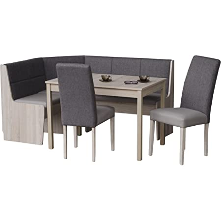 Eckbankgruppen Kuchen Eiche Eckbank Stuhle Tisch Eiche Sonoma Eiche 2777 Amazon De Kuche Haushalt Wohnen