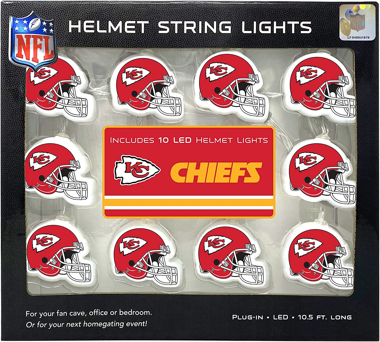 Party Animal NFL Kansas City Chiefs LED Helmet String Lights