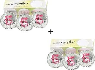 Navika Golf Balls Silver Metallic with KISS My PUTT Imprint(2 Pack)
