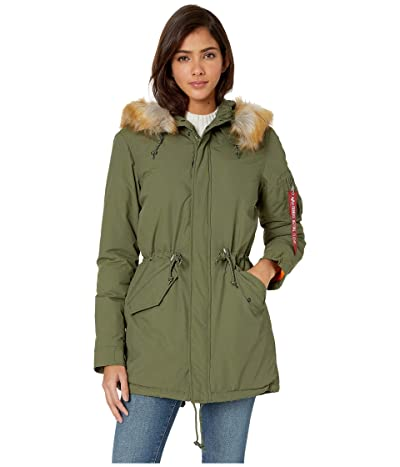 Alpha Industries J-4 Impact Primaloft Fishtail (Sage) Women