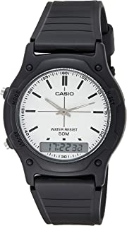 Casio Men'S Black Dial Resin Band Watch - Aw-49H-7Evdf,