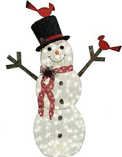 Joiedomi 5ft Cotton Snowman 170 LED Warm White Yard Light for Christmas Outdoor Yard Garden Decorations, Christmas Event Decoration, Christmas Eve Night Decor