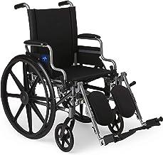 Medline Lightweight & User-Friendly Wheelchair With Flip-Back, Desk-Length Arms &..