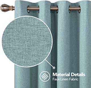 Deconovo Total Blackout Curtains 45 Inch Long Grommets Top Curtain with Coating Short Curtains for Small Windows Teal 52W x 45L Inch 2 Panels