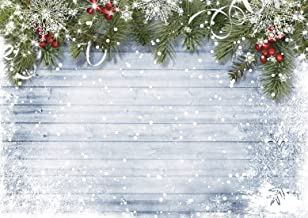 LTLYH 7x5ft Christmas Photography Backdrops for Photographers Wood Wall Backdrop White Snow Photo Background A023