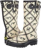 Country Cows Rain Boot
