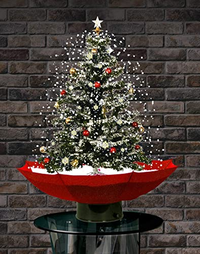 """2021 Jumbl 29"""" popular sale Led Lighted Musical Snowing Christmas Tree with Umbrella Base and 25 Songs sale"""