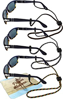 Eyeglass Retainer & Sunglass Holder By Peeper Keepers Supercord Adjustable, Assortment(4), 3pk mix | w/Microfiber Cloth, S...