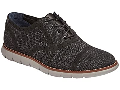 Johnston & Murphy Milson Knit Cap Toe (Black Knit) Men