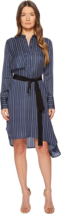 BELSTAFF Dorina Printed Viscose Stripe Dress