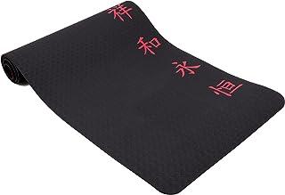 WENGAO Yogamatte Vira, rutschfest, schwarz mit chinesischen