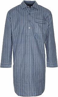 "Mens Champion Quality Nightshirt Brushed Cotton Loungewear (XL (44-46""), Dark Blue)"