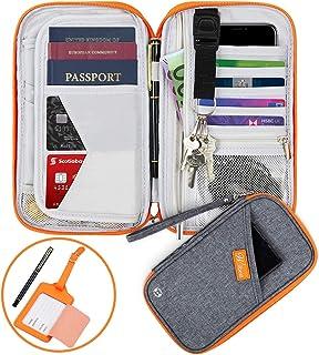 vol Sac de Passeport Portefeuille de Voyage pour Les Femmes Hommes Pochette Tour De Cou Voyage Blocage RFID Anti