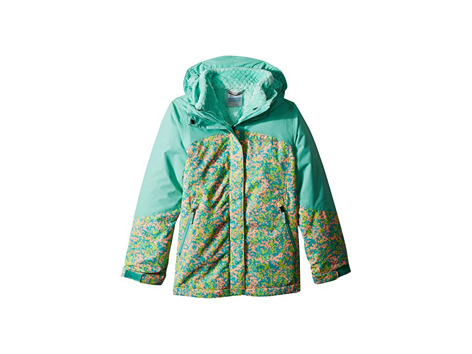 Columbia Kids Bugabootm II Fleece Interchange Jacket (Little Kids/Big Kids) (Tiki Pink Floral Print/Pixie) Girl