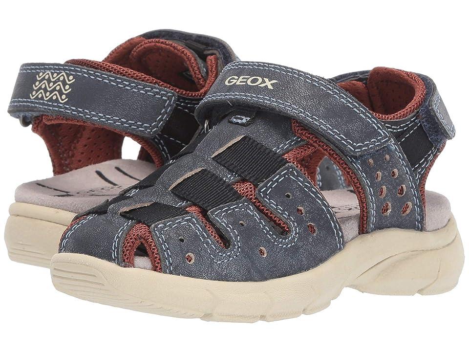 Geox Kids Sandal Flexyper Boy 5 (Toddler) (Navy) Boy